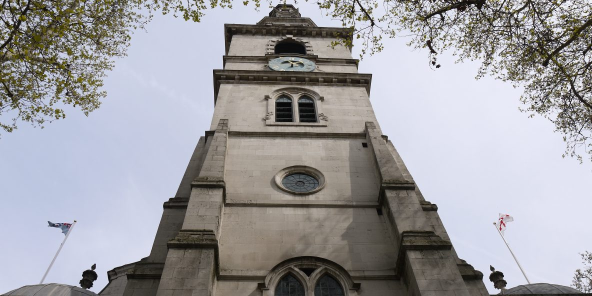 The famous bell tower and steeple