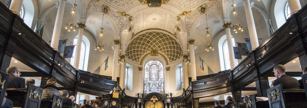 St Clement Danes Church looking East