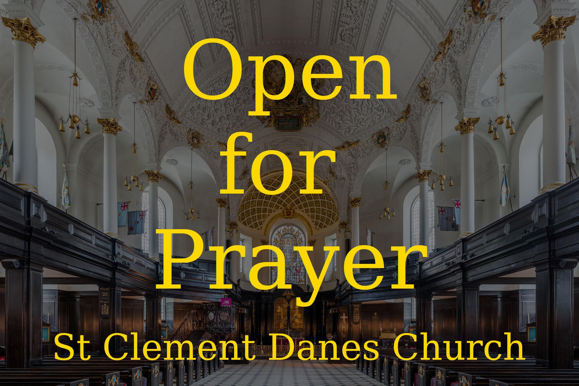Open For Prayer